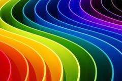 L'arcobaleno astratto colora il fondo delle curve rappresentazione 3d illustrazione di stock