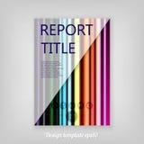L'arcobaleno astratto colorato ha barrato il templat decorativo della copertura di rapporto Fotografie Stock