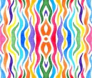 L'arcobaleno astratto ha colorato i tentacoli per fondo illustrazione di stock