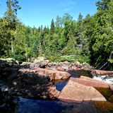 L'arcobaleno cade parco provinciale fotografia stock libera da diritti