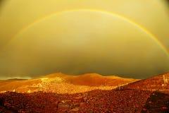 L'arcobaleno della contea di Seda fotografie stock