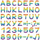 L'arcobaleno della fonte colora le lettere dell'alfabeto royalty illustrazione gratis