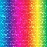 L'arcobaleno di spettro circonda il fondo variopinto Immagine Stock