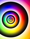 L'arcobaleno ha colorato intorno ai cerchi con le linee modello del nero di frattali royalty illustrazione gratis