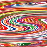 L'arcobaleno ha curvato la linea fondo di colore delle bande di vettore di arte Fotografia Stock Libera da Diritti