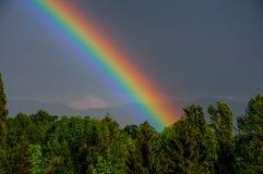 L'arcobaleno sopra Sarajevo Immagini Stock