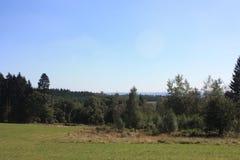 L'Ardenne à l'emplacement La Roche en Belgique Photographie stock