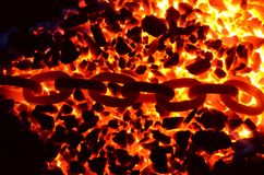 L'ardore a catena Fotografia Stock Libera da Diritti