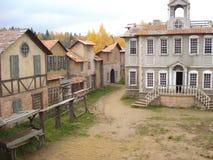 L'area del paesaggio di vecchia città Fotografie Stock