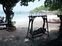 L'area di riposo sulla spiaggia Fotografie Stock