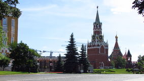 L'area interna della torre di Spasskaya di Cremlino con l'orologio Fotografie Stock Libere da Diritti