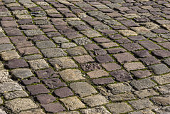 L'area pavimentata con la pietra Immagine Stock
