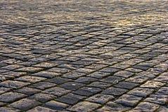 L'area pavimentata con la pietra Fotografie Stock