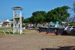 L'area storica della st Ann Garrison in Barbados Fotografia Stock Libera da Diritti