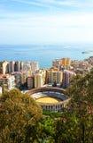 L'arena di Malagueta, Malaga, Andalusia, Spagna immagini stock