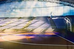 L'arena di pallacanestro rende Fotografie Stock Libere da Diritti
