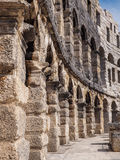 L'arena a Pola, Croazia fotografia stock libera da diritti