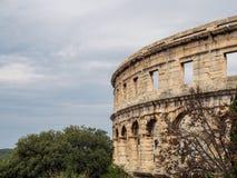 L'arena a Pola, Croazia fotografie stock libere da diritti