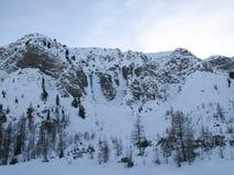L'arena rampicante del ghiaccio famoso della valle di Sertig nelle alpi svizzere Immagini Stock Libere da Diritti