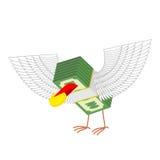 L'argent avec des ailes mange des pièces d'or Illustration de vecteur illustration libre de droits