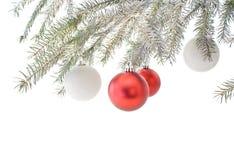 L'argent a coloré l'arbre de Noël Images libres de droits