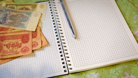 l'argent d'affaires écrivent Image libre de droits