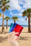 Crédits pour des vacances Image stock