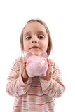 l'argent de fille sauvegardent Photographie stock libre de droits