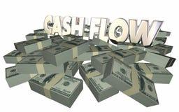 L'argent de flux de liquidités empile des finances de revenus de revenu de piles illustration stock