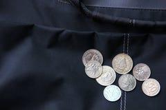 L'argent de l'Indonésie, invente plus de valeur sur le sac images stock