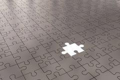 L'argent de morceau de puzzle Images stock