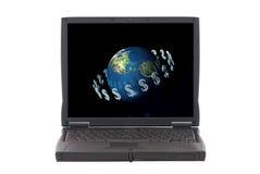 L'argent effectue le monde circuler, des opérations bancaires d'Internet Photo libre de droits
