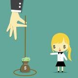 L'argent est le piège version2 illustration stock