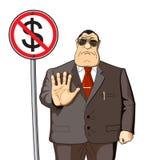 L'argent ne donnera pas illustration libre de droits