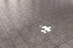 L'argent ouvert de morceau de puzzle Images stock