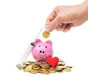 L'argent plus âgé d'économie pour des soins de santé Photos stock