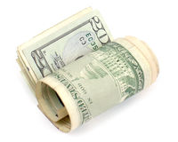 L'argent a roulé trois Photographie stock libre de droits
