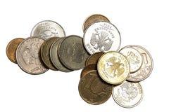 L'argent russe - pièces de monnaie Photographie stock libre de droits