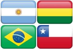 L'Argentina, Bolivia, Brasile, Cile royalty illustrazione gratis