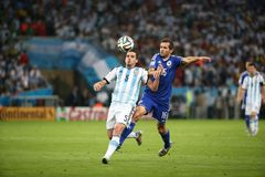 L'Argentina e la Bosnia un calcio di 2014 coppe del Mondo Fotografie Stock