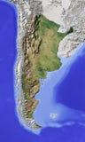 l'Argentine, carte d'allégement ombragée Image libre de droits