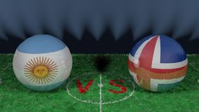 L'Argentine contre l'Islande Coupe du monde 2018 de la FIFA Image 3D originale Photos libres de droits