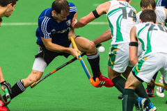 L'Argentine des hommes d'hockey joue contre l'Afrique du Sud Photos stock