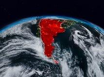 L'Argentine la nuit illustration stock