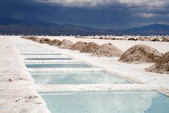 l'Argentine saline images stock