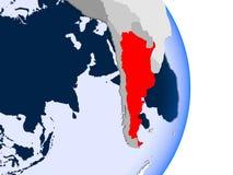L'Argentine sur le globe illustration libre de droits