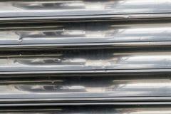 L'argento allinea la vecchia struttura del fondo del metallo Fotografie Stock Libere da Diritti