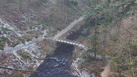 L'argento cade ponte Fotografie Stock Libere da Diritti