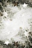L'argento stars il fondo fotografia stock