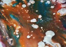 L'argento vago di marrone dell'acquerello macchia le tonalità Fondo astratto dell'acquerello della pittura fotografia stock libera da diritti